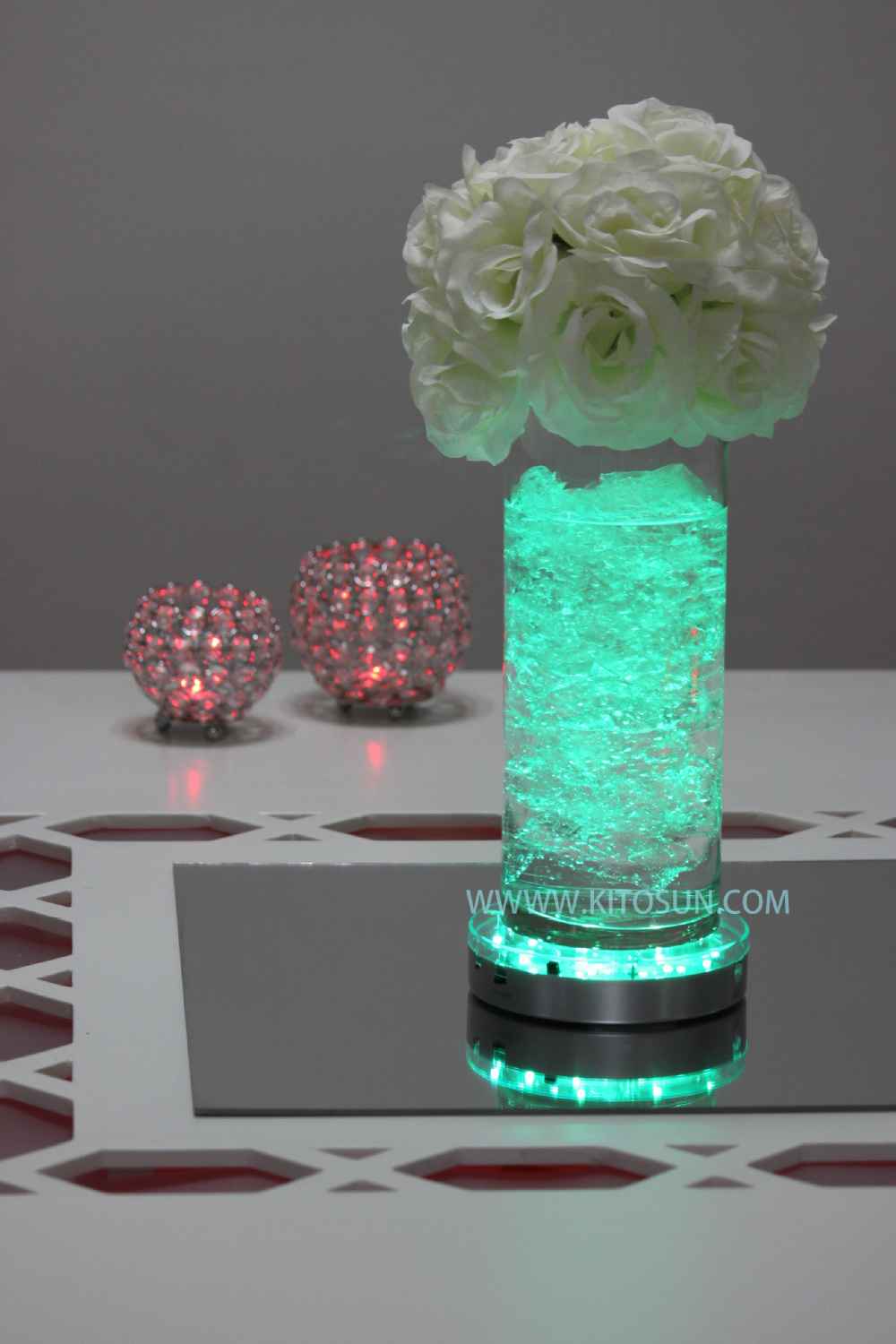 Hot sale quot remote control centerpieces led vase lights