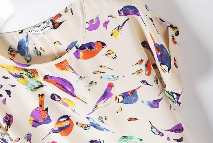 Блузка С Птицами В Самаре