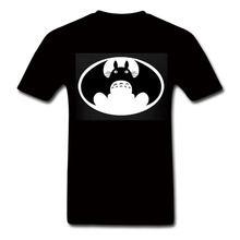 My Neighbour Totoro t shirt VS batman tshirt mashup harajuku Unisex anime Top brand clothing Men Women Graphics Design T-Shirt(China (Mainland))