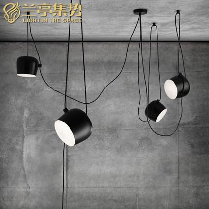 Black Modern LED Pendant Lamp Pensonal Creative Small Drum Shape Light Clothing Store Light Living Room Light Free Shipping(China (Mainland))