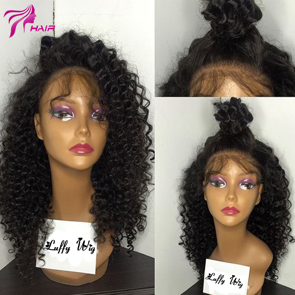 Unprocessed Loose Curly Full Lace Human Hair Wig Glueless Virgin Hair Brazilian Full Lace Wig Curly Lace Wigs For Black Women(China (Mainland))
