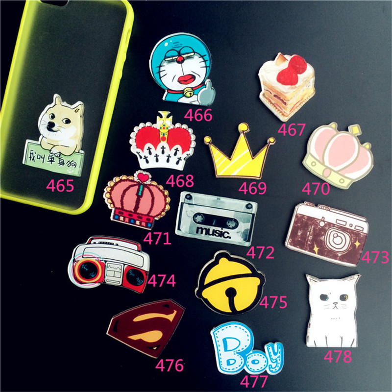 (min mix order $ 5 ) New Arrival Harajuku Badge Acrylic Brooches With Pins Cartoon Figure Doraemon Cat Brooch Broche ab02(China (Mainland))