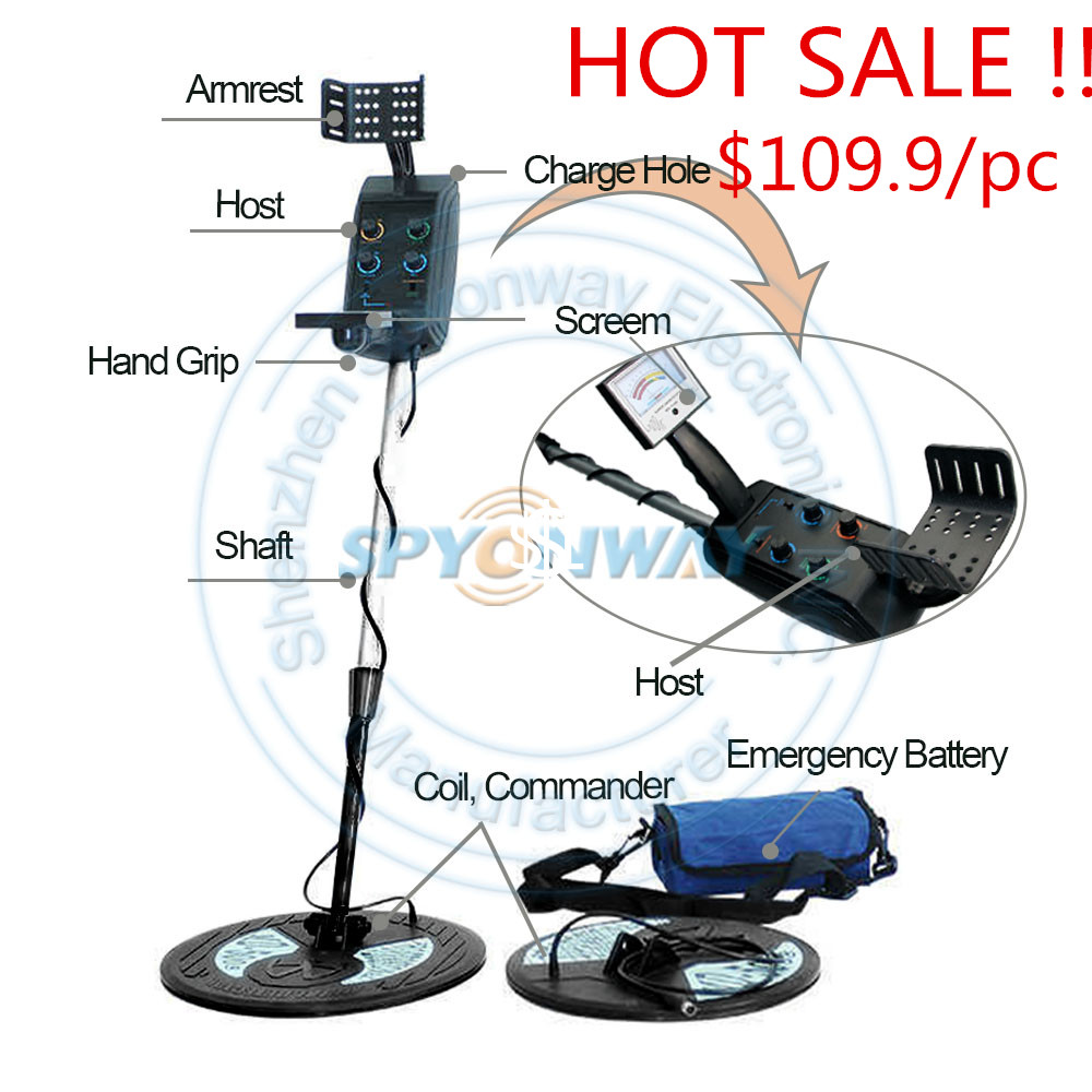 especail price  hot sale promotion MD5008Free Shipping! MD5008 Under ground metal detector,gold detector with two waterproof big<br><br>Aliexpress