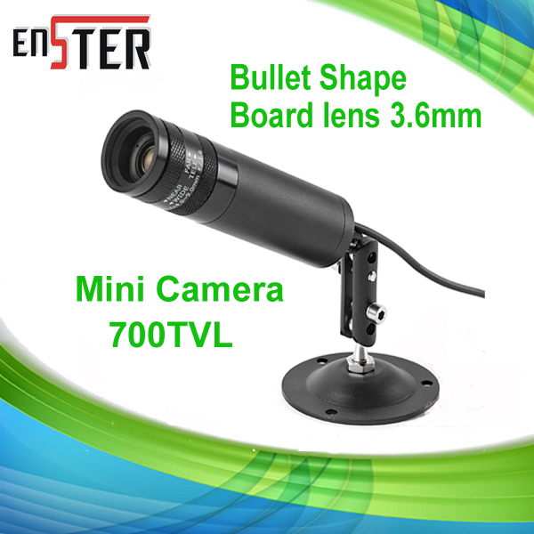 Enster SONY 700TVL CCD Mini Camera Bullet Shaped Security&Surveillance Product DNR,DWDR CCTV Camera Column Pen Pot Design(China (Mainland))