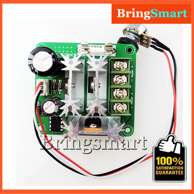 CCMHCN PWM 15A 6V-90V DC Motor Speed Controller PLC Insurance With Speed Control Knob(China (Mainland))