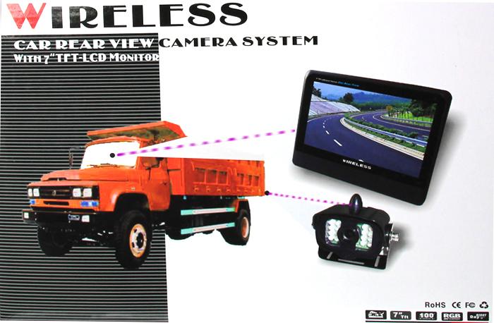 ANSHILONG 2.4GHz Wireless 7″ TFT LCD Monitor Car Rear View system + Weatherproof 15LEDs IR Night Vision Parking Reversing Camera