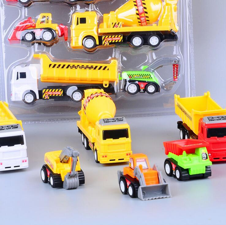6 pcs/sets Engineering construction vehicle Engineering Car Dump-car Dump Truck Artificial Model Classic Toys For boy kids(China (Mainland))