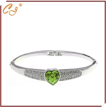 Romantic Love  Drop Ship Heart Shape Crystal  Bracelet Made In Hand(China (Mainland))