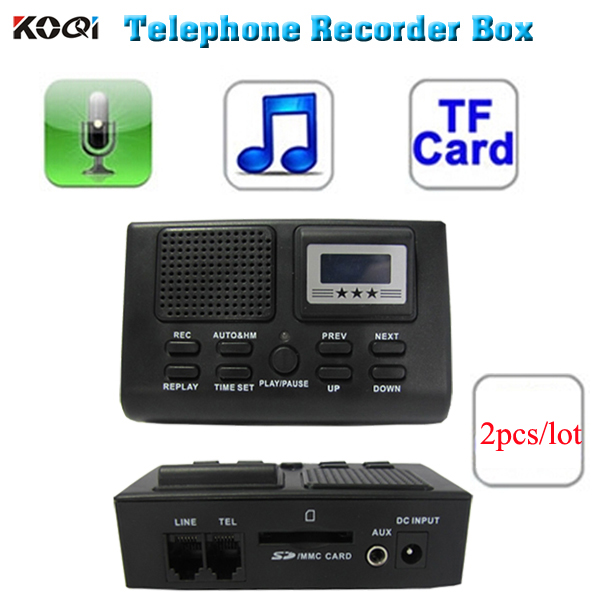Telephone Voice recorder device record business telephone call in SD card, work without computer 2pcs/lot(China (Mainland))