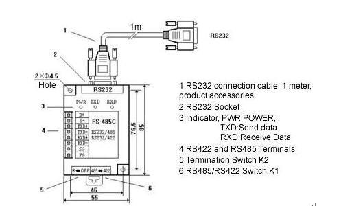 Разъем RS232 ( DB9M ) Сигнал