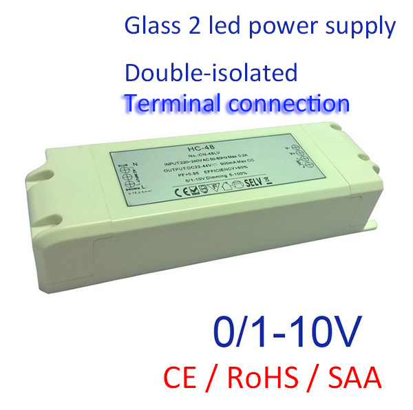 700mA 1000mA 1300mA 0-10v dimming led driver 48W Suitable for LED Lighting SELV CC Power supply(China (Mainland))