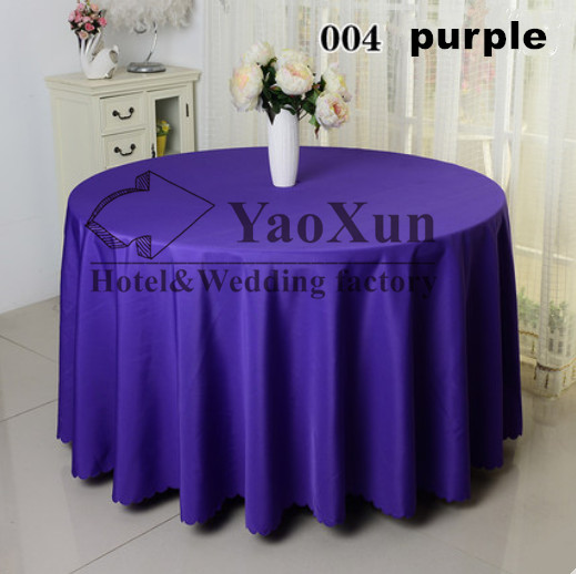 Purple Color 100%Poly Plain Table Cloth Free Shipping(China (Mainland))