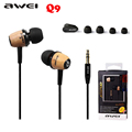 Awei Q9 Sport Headphones Bluetooth Earphones Stereo Earbuds 3 5mm In ear Headset Voice control Noise