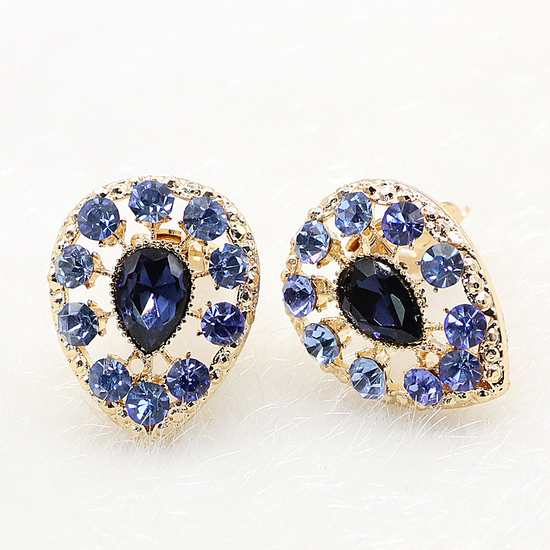 New 2016 Earings Crazy Style Water Drop Women Clip Earings No Pierced Ear Cuff Tribal Earrings Party Plates(China (Mainland))