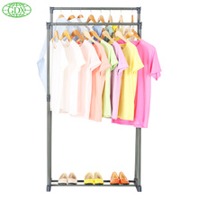 GDX Home Storage Clothes Hanger Big Load Capacity Garment Rack  Clothes Shelves Organizer with Double Bar Coat Holders(China (Mainland))