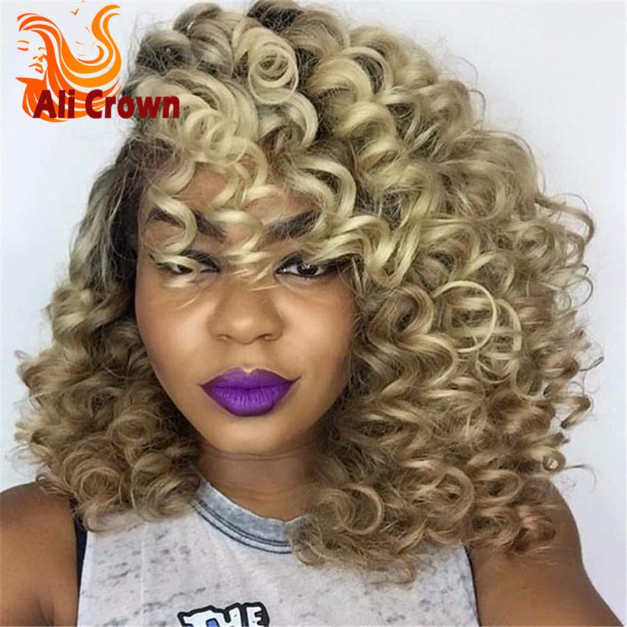 Ombre Bob Full Lace Human Hair Wigs Brazilian Short Bob Hair Glueless Lace Front Wigs 150%Density Side Part Wig For Black Women<br><br>Aliexpress
