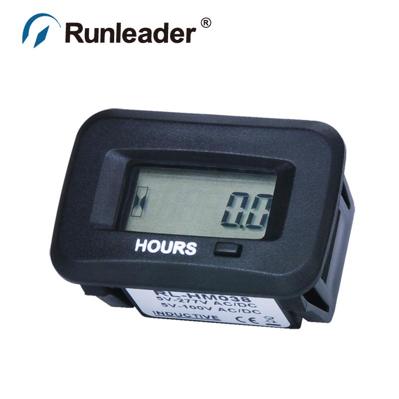 Runleader RL-HM038 waterproof digital LCD hour meter for Chainsaws marine lawn mower sprayer tractor trailer farm engine ATV(China (Mainland))