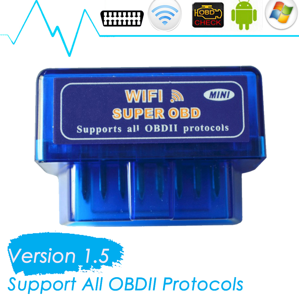2016 New Arrival super mini WiFi obd ELM327 wireless obd2 wifi diagnostic interface for IOS iPhone iPad Android system(China (Mainland))