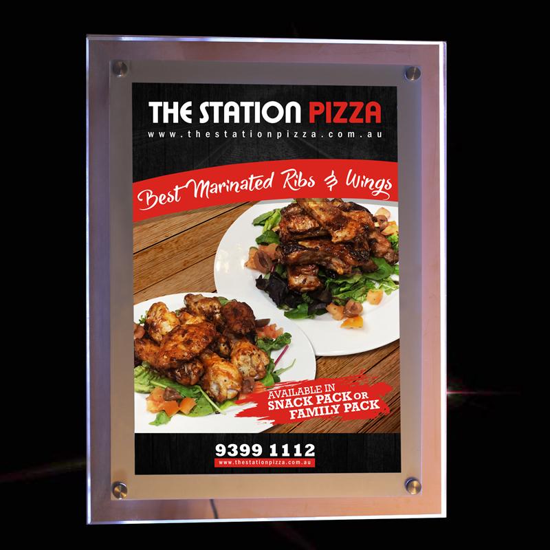A2 led signs advertising display acrylic light box restaurant slim lighted up menu panels(China (Mainland))
