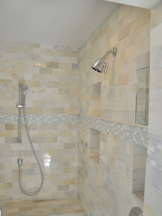 Mother Of Pearl Tile Shower