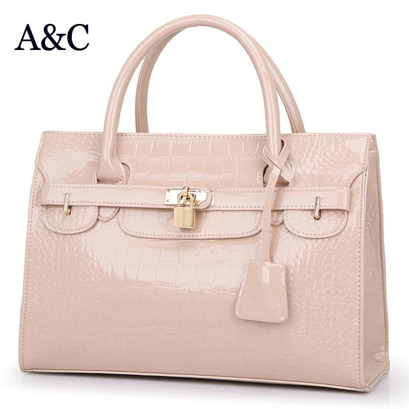 Hot Sale Good Quality Big Women Handbag Patent Leather Women Bag 2016 Brand Designer Elegant Female Messenger Bags Sac a Main(China (Mainland))