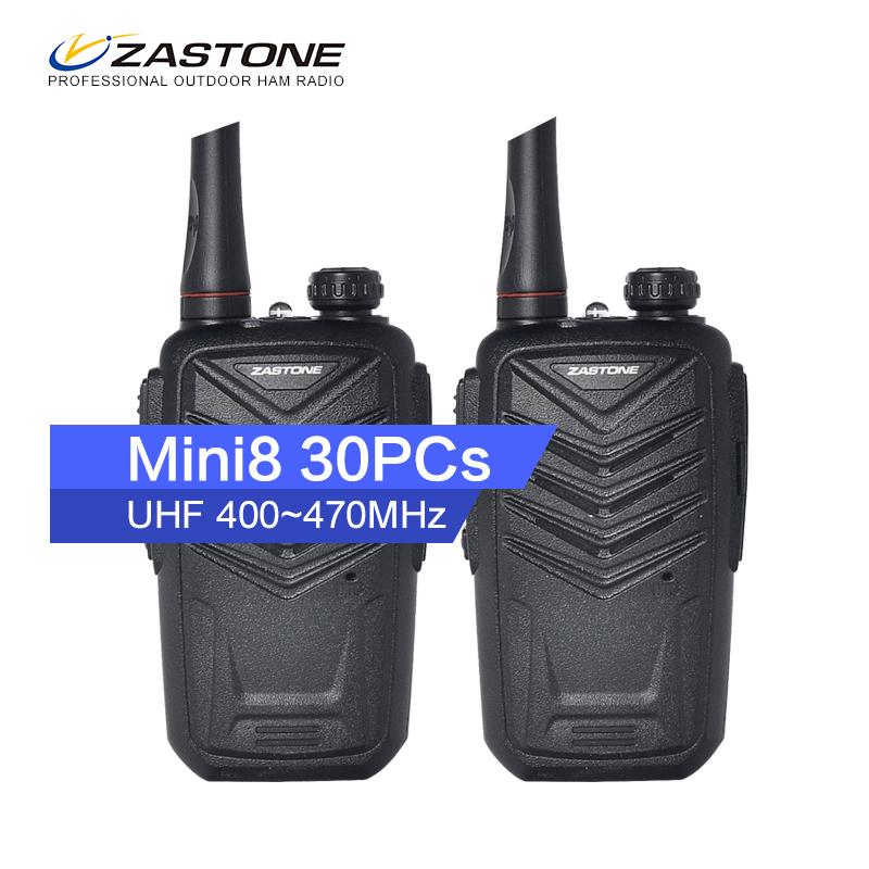 Cheap Price 30Pcs Zastone Mini8 Walkie Talkie Lots Handheld Radio Communicator Fm Radio Vhf Transceiver Hunting Radio(China (Mainland))