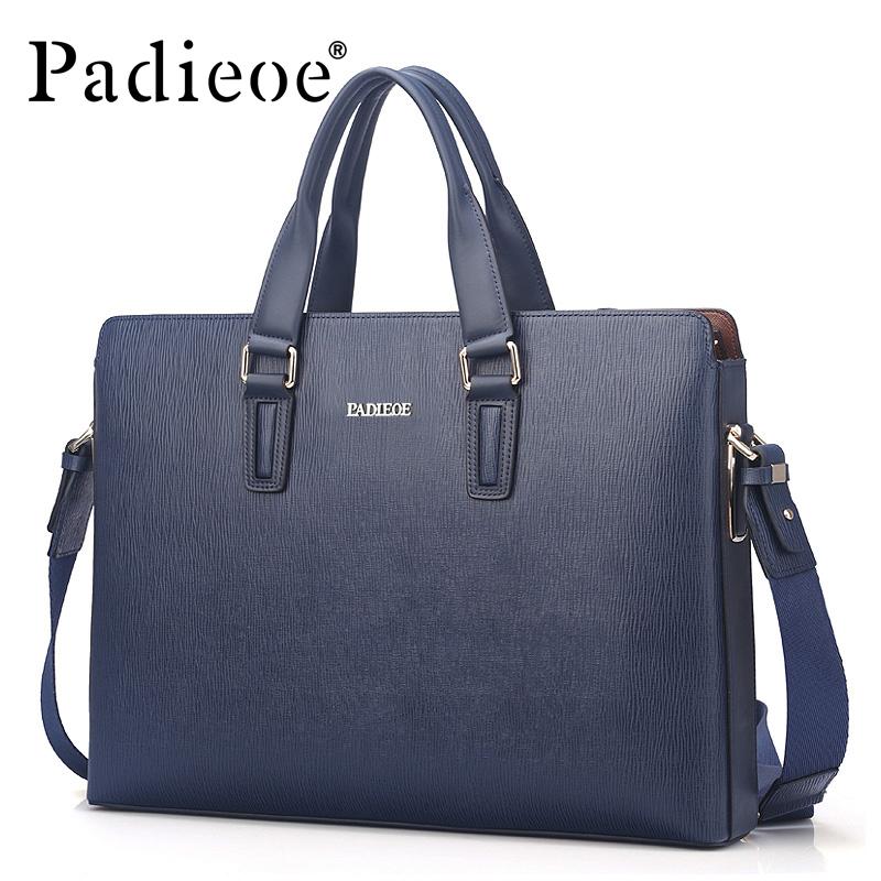 100% Natural cowhide leather men messenger bags genuine leather men's briefcases bag fashion black blue bags handbags for men(China (Mainland))
