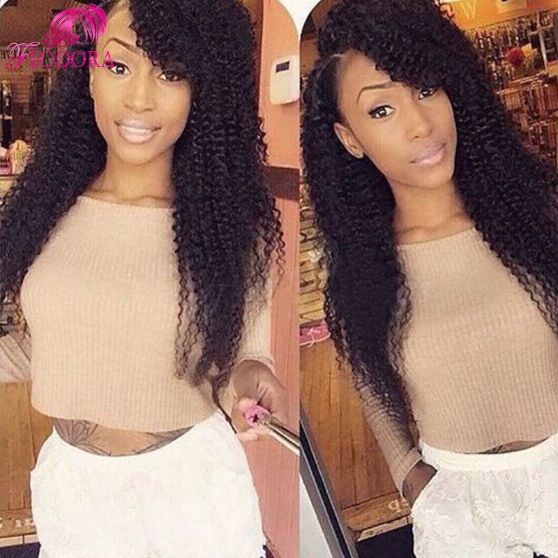 human hair u part wig kinky curly unprocessed Grade 7a u part wig brazilian hot sale natural hairline 100% human hair customized