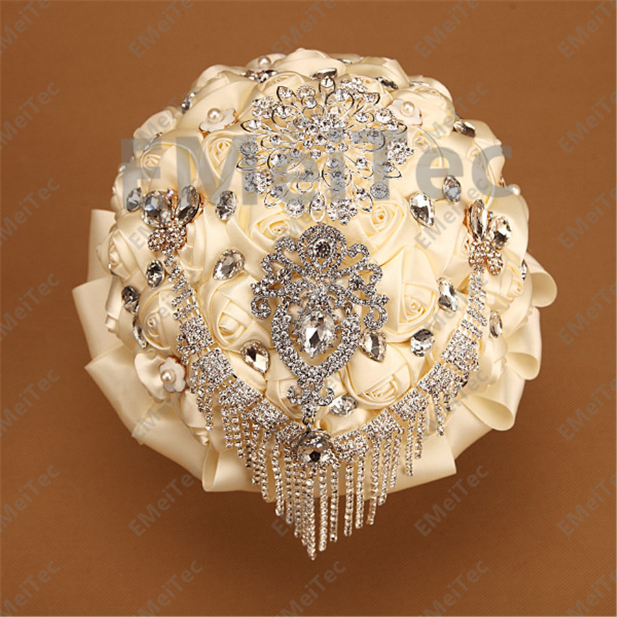 Luxury Wedding bride holding wedding bouquet droplets flower welcome custom props holding only their own hands flowers(China (Mainland))