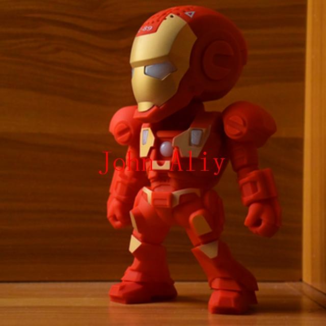 Wholesale new arrive Robot Design C-89 Iron Man Mini Protable Wireless Bluetooth Speaker Handfree MP3 Player Best Gift For Kids(China (Mainland))