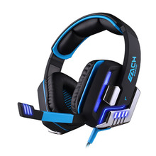 2015 New EACH G8200 Gaming Headphone 7.1 Surround USB Vibration Game Headset Headband Earphone with Mic LED Light for PC Gamer