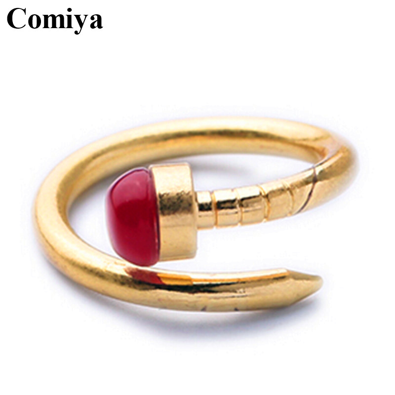 Red wholesale customized super deal assessories adjustable fashion championship exquisite setting natural stones birthday rings(China (Mainland))