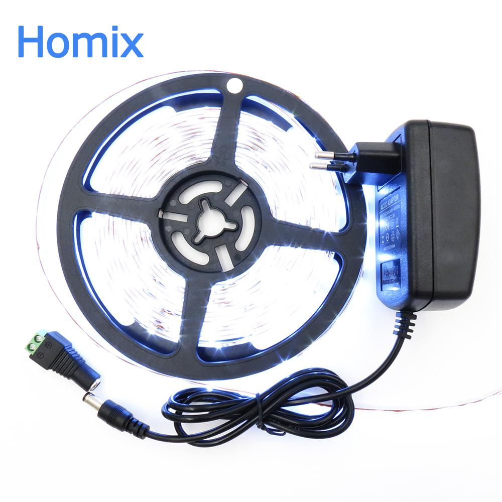 waterproof led strip light rgb 12 volt dc led bulbs 5M Lampada smd 2835 rgb Light Tape Ribbon Lamp color changing led rope light(China (Mainland))
