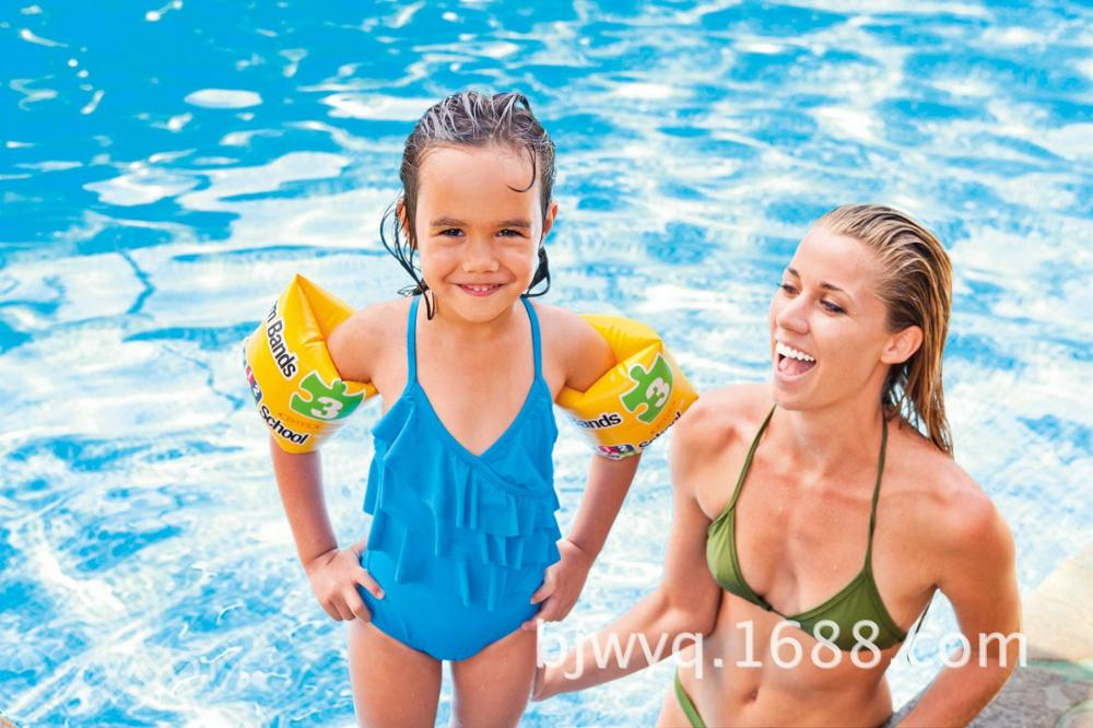 SMART LUXURY FREE SHIPPING INTEX swimming school arm circle 56643 arm circle swimming laps floating ring 3-6 years old children(China (Mainland))