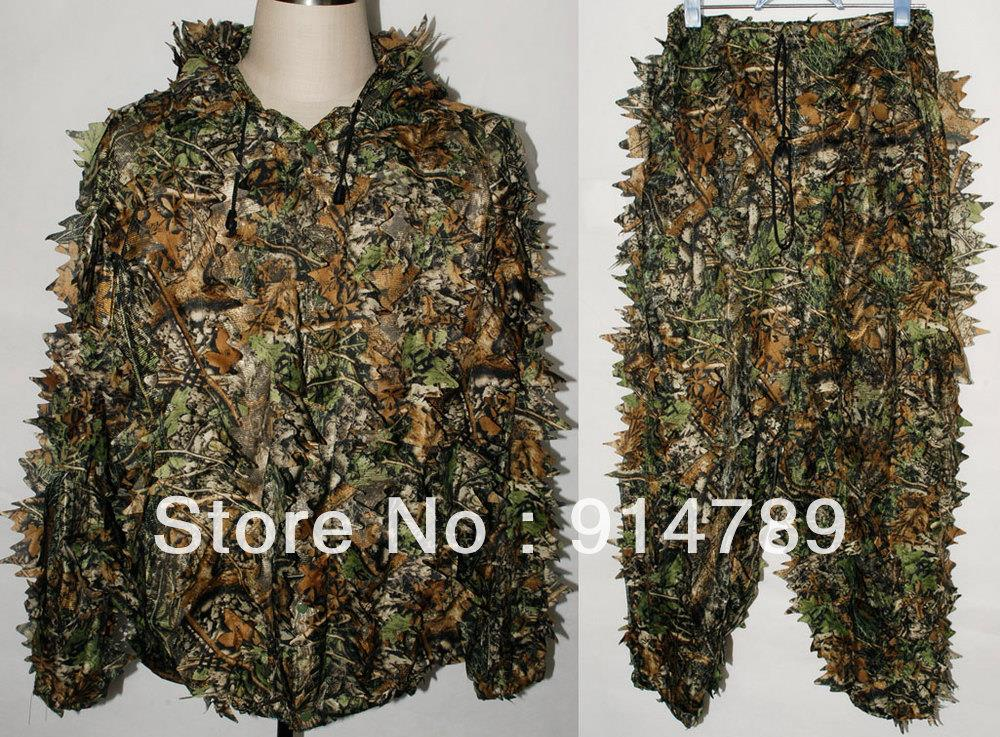REALTREE CAMO HUNTING LEAF NET GHILLIE SUIT JACKET AND TROUSERS -32249Одежда и ак�е��уары<br><br><br>Aliexpress
