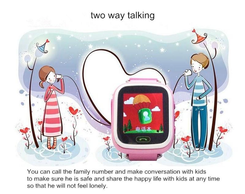 ถูก เด็กน่ารักsmart watchอิเล็กทรอนิกส์ติดตามป้องกันการสูญหายนาฬิกาข้อมือที่มีฟังก์ชั่นของขวัญสำหรับเด็ก
