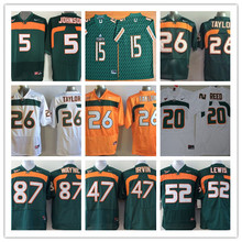 100% Stitiched,Miami Hurricanes,Sean Taylor,Andre Johnson 5 Brad Kaaya 15 Ed Reed 20 Ray Lewis 52 Reggie Wayne 87 camouflage(China (Mainland))