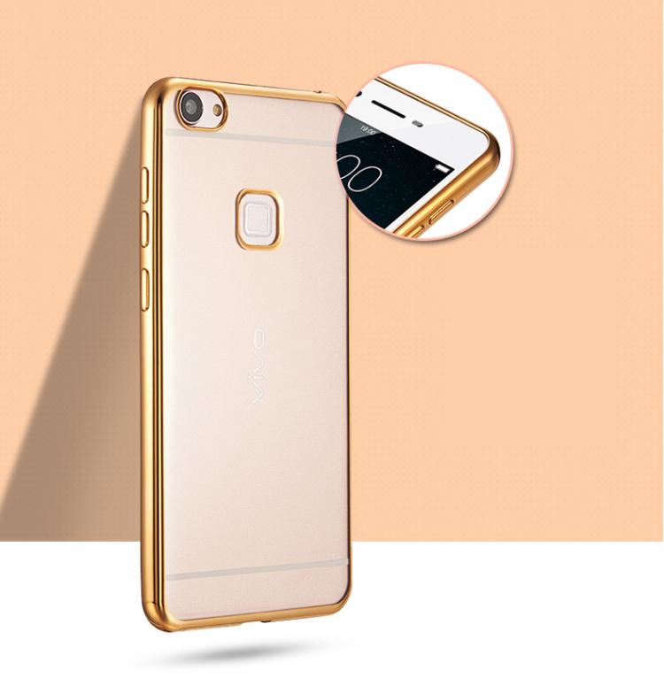 Plating Soft TPU Case Transparent Cover For BBK Vivo X5L/X5 Max/X5 Pro/ X6/X6 Plus/X Play 5A/ V3/V3 Max/ X7 Plus/ X7 Back Cover(China (Mainland))