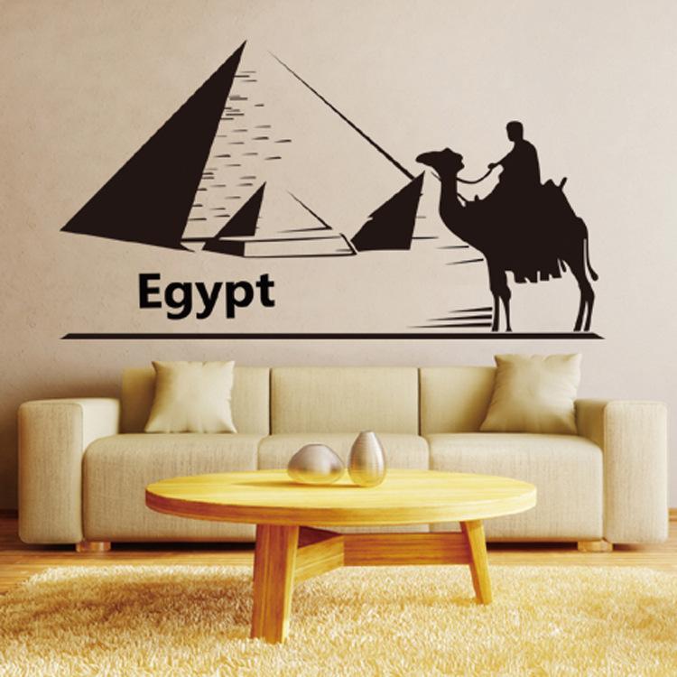 Achetez en gros egypt pyramide stickers en ligne des for Decoration egyptienne murale