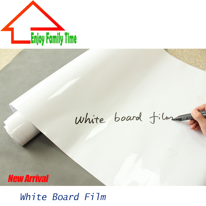 Manufacturers Wholesale 60 CM By 1000CM Teaching Soft Environmental Self-Adhesive White Board Film Large Can Give Erasable Pen(China (Mainland))