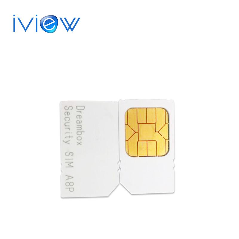 1pc free post Original A8P sim card for sunrady 800se 800hd se DVB-C cable Security A8P Sim support Original Software for 800SE(China (Mainland))