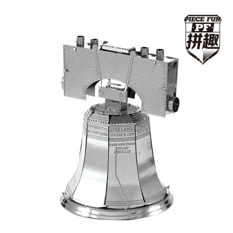 The world famous buildings,3D,DIY,Metal,realistic,Scale Miniature Model Kids,Liberty bell,Intelligent Educational Toys(China (Mainland))