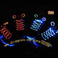 1 пара 2шт блистерной упаковке Лучшая цена диско флеш свет Светодиодные шнурки