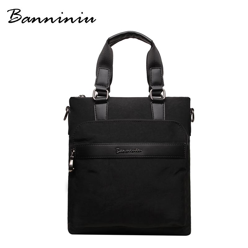 Designer Handbags High Quality Nylon Waterproof Casual Briefcases For Men Famous Brand Messenger Bag Men High Fashion Hand Bag(China (Mainland))