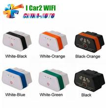 2016 Лучшая Цена Vgate икар 2 iCar2 WIFI ELM 327 OBD2 OBDII Автомобиля Диагностический Инструмент для Android/iOS/ПК с Розничной Случае(China (Mainland))