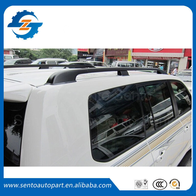 Fit for TOYOTA Land Cruiser LC200 roof rack black color aluminium alloy roof rail bar LC200 08 - 15(China (Mainland))