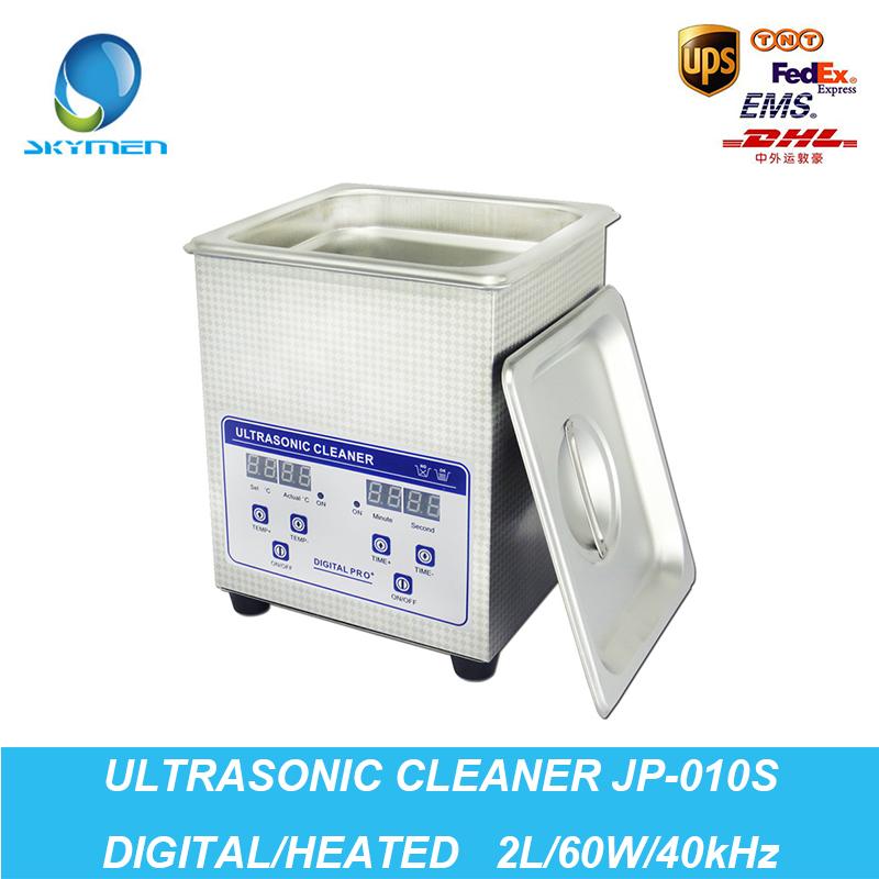 Ultrasonic Washer 2L Tank 60W 40kHz Baskets Jewelry Watches Dental Lavatrice Ultrasuoni Digital Heated Ultrasonic Cleaner Bath(China (Mainland))