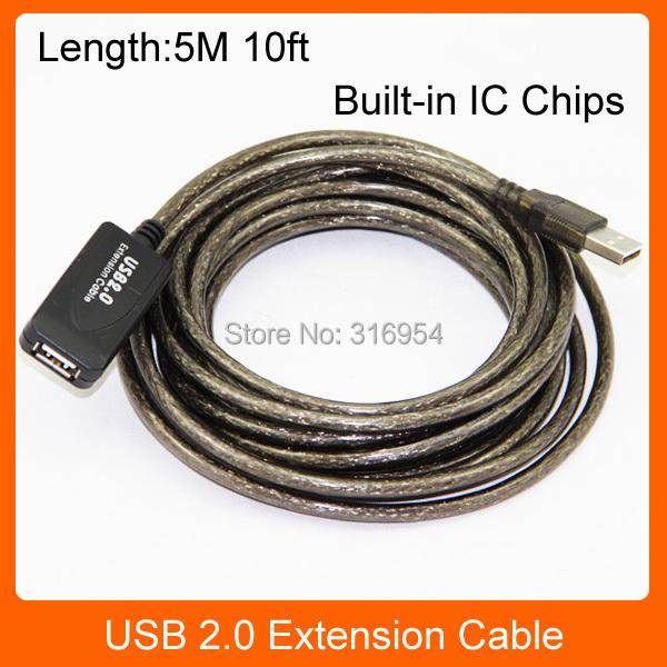 5 м футов активный ретранслятор USB 2.0 кабель удлинитель между мужчинами встроенный ик двойной экранирование высокоскоростная передача chinatut.ru