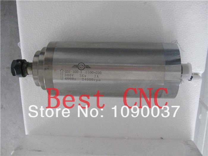 Купить Высокое качество ER-20 100 мм 3.0kw 380 В чпу мотор шпинделя 3kw двигателя Шпинделя С ЧПУ, мотор шпинделя для чпу