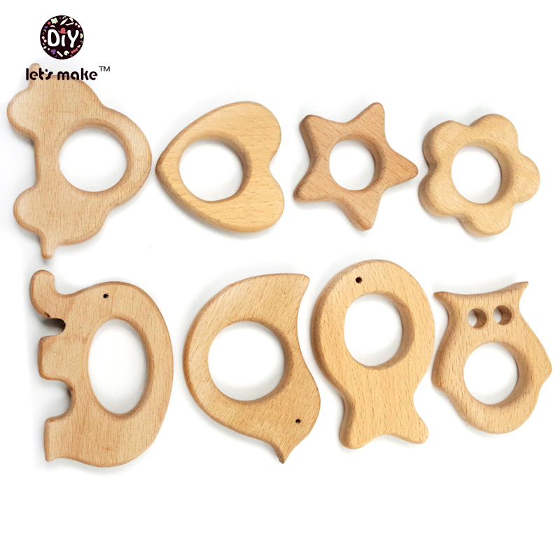 8 PCS Beech Wood  Charm pendants Solid Eco-friendly Charm Jewelry Making Accories Handcrafted DIY Kits<br><br>Aliexpress